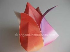 tulip origami instructions | is to admire your efforts and your beautiful origami traditional tulip ...
