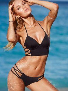 Strappy, strappy, joy, joy! // Victoria's Secret Long Line Bikini
