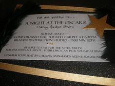 Oscars Party Invitation by 2CuteNot2Share on Etsy, $7.00
