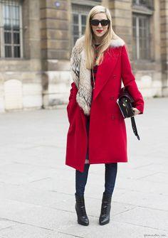 616077c63ac3b Joanna Hillman looking amazing in an oversized coat and fur collar. I NEED  a fur