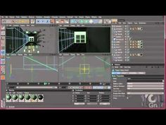 Building of a corridor with MoGraph and Camera Mapping tutorial #4 part 4