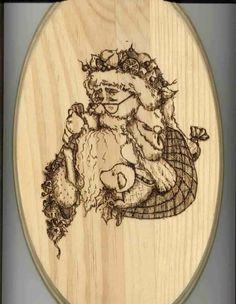 Free Printable Wood-Burning Patterns | Sue's Santa Woodburning Pattern