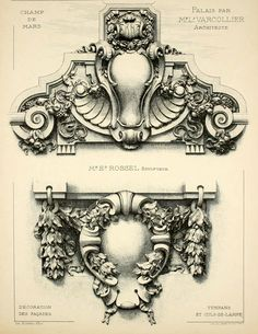 Designs for the facade of the Palaces on the Champ de Mars for the 1900 Exposition Universelle, Paris