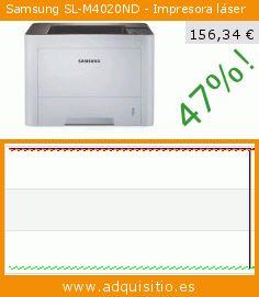 Samsung SL-M4020ND - Impresora láser (Ordenadores personales). Baja 47%! Precio actual 156,34 €, el precio anterior fue de 295,53 €. https://www.adquisitio.es/samsung/sl-m4020nd-impresora