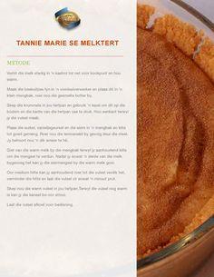 Custard Recipes, Tart Recipes, Dessert Recipes, Melktert, South African Recipes, Tasty, Yummy Food, Deserts, Coconut