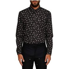Givenchy Floral Print Shirt ($290) ❤ liked on Polyvore featuring men's fashion, men's clothing, men's shirts, men's casual shirts, black, flower print mens shirt, mens floral print shirts, mens collared shirts, givenchy mens shirt and mens floral shirts