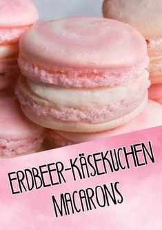Diese Erdbeer-Käsekuchen-Macarons sind ein süßer Traum in Pink