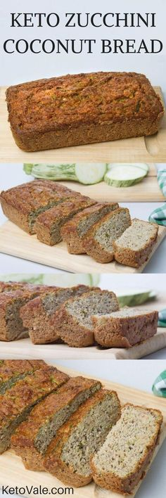 Keto - Low carb - Gluten free - Sugar free - Wow you must try this easy and tasty Keto Zucchini Coconut Bread! A combination of zucchini and coconut flour will give it the amazing flavor!