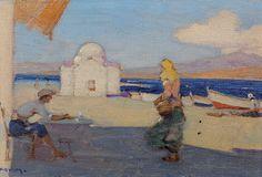 : Κοσμαδόπουλος Γεώργιος -  [1865-1967]Κάτω στο Γιαλό.