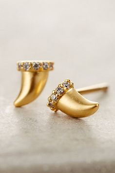 Horn Curve Studs #anthropologie