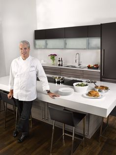 Check out the Eric Ripert Poggenpohl Kitchen at Dwell on Design 2013 that features Silestone countertops in White Zeus Extreme Suede #dod2013