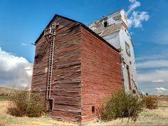 Sharples Alberta grain elevator