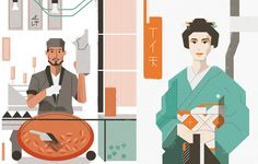 This editorial illustration project was created for promotion reasons and inspired by Japan culture. The main goal is to attract social media attention and possible future clients.