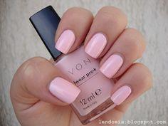 Avon Pastel pink nail polish