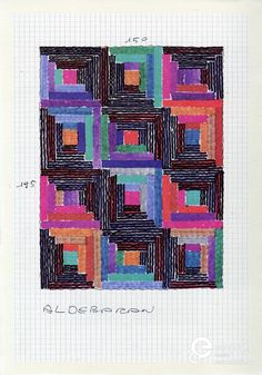 Sketch for tapestry in knitted fabric by Ottavio Missoni, 1990-1995. Photo: collection Missoni Archive, all rights reserved.
