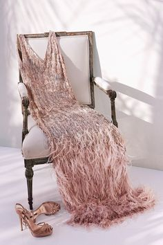 party dress and shoes  on chair