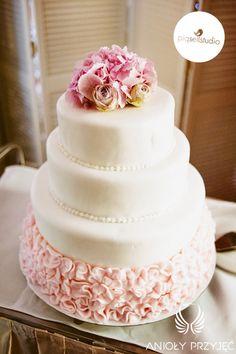 Glamour Wedding,Wedding cake / Wesele glamour,Tort ślubny,Anioły Przyjęć