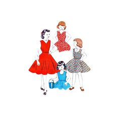 1950s Girls Jumper Long or Puff Sleeve Blouse Butterick 7014 Vintage Sewing Pattern