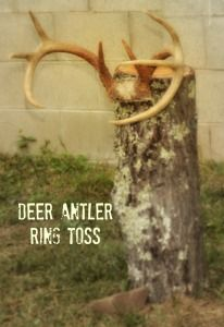 A Woodland ONEderland Party - Deer Antler Ring Toss game << Does Kurt have any deer antlers hanging around that we could use? Camo Birthday Party, Camo Party, 4th Birthday Parties, Boy Birthday, Birthday Ideas, Birthday Activities, Deer Hunting Party, Deer Hunting Birthday, Woodland Onederland Party