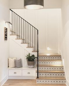 Bench In Stair Nook Dreaming In 2019 Tile Stairs Tiled House Stairs Bench Dreaming Nook Stair Stairs Tile Tiled Tile Stairs, House Stairs, Entryway Stairs, Tiled Staircase, Staircases, Living Room Stairs, Modern Staircase, Interior Stairs, Home Interior Design