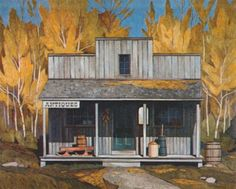 """Casson Canadian, Member of The Group of Seven 1898 - 1992 """"Antique Store"""" Canadian Painters, Canadian Artists, Group Of Seven Paintings, Tom Thomson Paintings, Cool Artwork, Amazing Artwork, National Art, California Art, Impressionist Paintings"""
