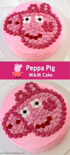 Peppa Pig M amp;M Cake Peppa Pig M amp;M Cake The post Peppa Pig M amp;M Cake appeared first on Kindergeburtstag ideen. Pig Cupcakes, Cupcake Cakes, Mnm Cake, Tortas Peppa Pig, Peppa Pig Cakes, Pig Birthday Cakes, 4th Birthday, Birthday Ideas, Crazy Cakes