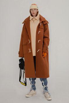 shop - New Collection Unisex Fashion, Fashion Brand, Cool Street Fashion, Street Style, Ader Error, Duffle Coat, Men Looks, Windbreaker Jacket, Wool Coat