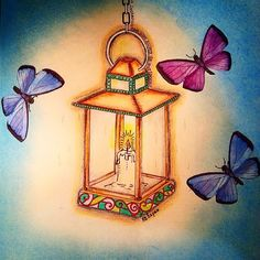 Candle Secret Garden. Vela Jardim Secreto. Johanna Basford More