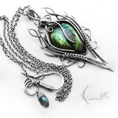 What I want for my Bday.. DARHNARR - silver and labradorite. by LUNARIEEN.deviantart.com on @deviantART