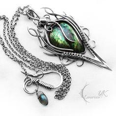 What I want for my Bday.. DARHNARR - silver and labradorite. by LUNARIEEN.deviantart.com on @deviantART