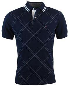 Amazon.com: Tommy Hilfiger Mens Classic Fit Argyle Stitch Logo Polo Shirt: Clothing