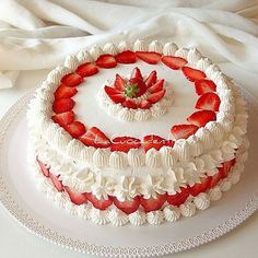 You searched for label/torte decorate - La Cuoca Dentro Strawberry Cakes, Strawberry Recipes, Bakery Cakes, Food Cakes, Just Desserts, Delicious Desserts, Sweet Recipes, Cake Recipes, Super Torte
