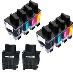 N 2Sets+2BK LC41 BK C Y M Compatible Ink Cartridge for Brother FAX1840C 1940CN 2440C