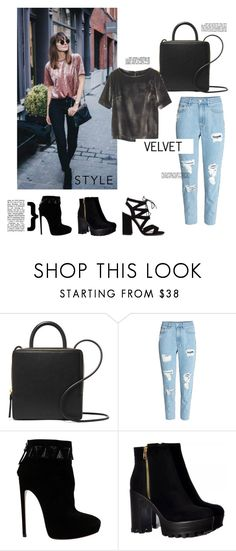 """""""Velvet"""" by alejomarianne ❤ liked on Polyvore featuring Building Block, Rachel Comey and Alaïa"""