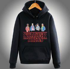 Plus size Stranger Things hoodie for teens fleece hooded sweatshirts