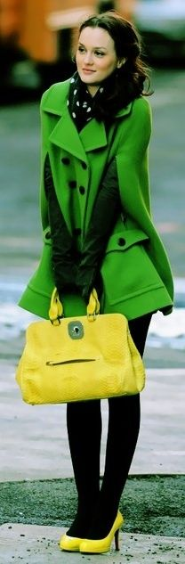 Dresses Trends 2013: Green Trends 2013. I like the color match up and the coat is amazing!!