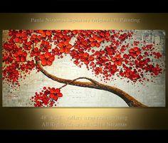 Ready to ship ORIGINAL  48 Abstract Contemporary Red por Artcoast, $360.00