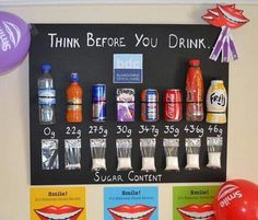Dental Activities for Kids - Todo Sobre La Salud Bucal 2020 Class Displays, School Displays, Classroom Displays, Science Projects, School Projects, Sugar In Drinks, Science Display, Drink Display, Maths Display