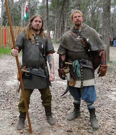 What It Takes To Go Viking - Matt, Dave and Clint from the Texas Jomsborg Elag give an interview, full audio on the page Viking Warrior, Viking Garb, Viking Reenactment, Viking Men, Viking Life, Medieval Armor, Medieval Fantasy, Armor Clothing, Viking Clothing
