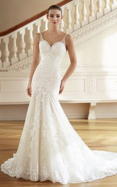 Courtesy of Martin Thornburg Collection of Mon Cheri Wedding Dresses; Wedding dress idea.