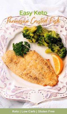 Keto Parmesan Crusted Flounder Fish | Beauty and the Foodie Low Carb Dinner Recipes, Keto Recipes, Healthy Recipes, Keto Dinner, Healthy Eats, Atkins Recipes, Fish Dinner, Keto Foods, Ketogenic Recipes