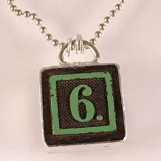 Number 6 Pendant by XOHandworks $20