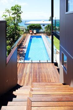 At Home With a Stunning View Wood siding and contemporary features combine to create a family's dream home in Sydney. Contemporary Pool by Mackenzie Pronk Architects. Posted thanks to @Houzz