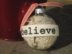 burlap in an ornament