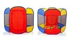 Pop-up ball pit lets kids' imaginations run wild as they exercise and improve motor skills; includes 50 colorful balls
