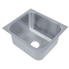 """This Advance Tabco Smart Series 2020A-12 single compartment undermount sink enables a seamless surface for your commercial kitchen! It's made of 18 gauge type 304 stainless steel and features 3"""" radius corners for ease of cleaning. This Advance Tabco recessed sink features a 3 1/2"""" drain opening and a 1 1/4"""" outside flange for installation. <br><br><b><u>Overall Dimensions:</b></u><br> Left to Right: 22 1/2"""" <br> Front to Back: 22 1/2"""" <br> Height: 12"""" <br><br><b><u>Compartment…"""