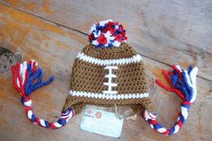 Ole Miss Rebels football earflap hat by TheMadHatterShoppe on Etsy, $22.00
