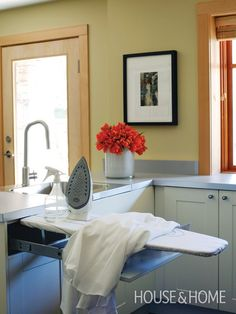 Photo Gallery: Organized Family Homes | Sleek Laundry Room | House & Home | Photo by Janis Nicolay