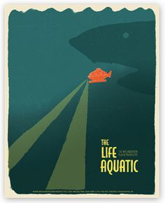 Wes Anderson Poster Series - These are a part of a poster series for a retrospective film festival showing the work of Wes Anders