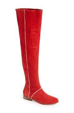 Free People 'Grandeur' Suede Over-The-Knee Boot (Women) available at #Nordstrom